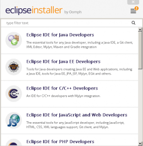 Instalación de IDE Eclipse con Eclipse Installer